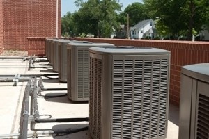 HVAC systems on terrace